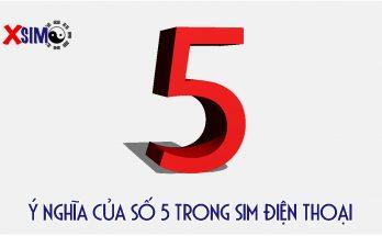 Ý nghĩa số 5 trong sim điện thoại là gì