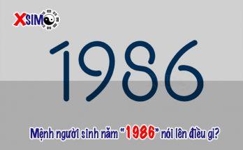 Mệnh của người sinh năm 1986 nói lên điều gì về con người họ