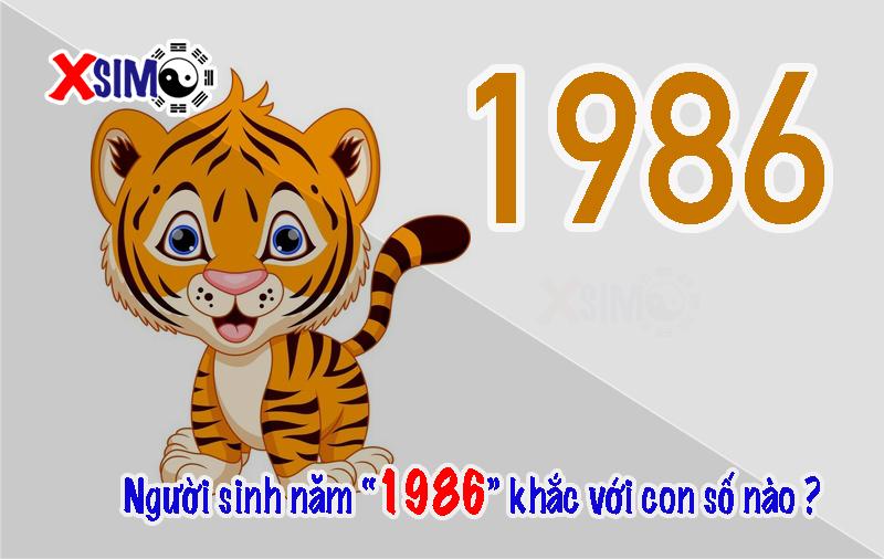 Người sinh năm 1986 tương khắc với số nào