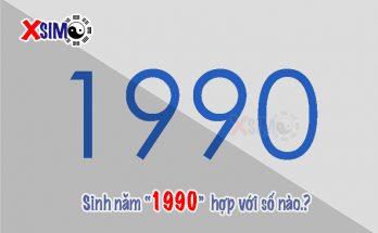Sinh năm 1990 hợp với số nào?